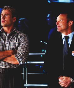 Avengers - Captain America and Phil Coulson    I know that feel, Coulson.