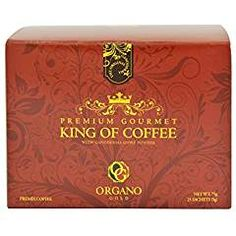 1 Box Organo Gold King Of Coffee certified Organic Gourmet Coffee. -- See this great product. (This is an affiliate link) Great Inventions, Instant Coffee, Organic, King, Personalized Items, Box, Gourmet, Snare Drum
