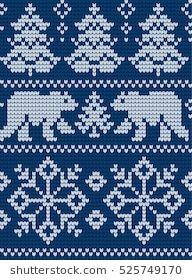 Podobne obrazy, zdjęcia stockowe i ilustracje wektorowe: Christmas and New Year Design Seamless Knitting Pattern — 494119693 Knitted Christmas and New Year pattern Always aspired to discover ways to knit, but not sure where do you start? Intarsia Knitting, Knitting Charts, Knitting Stitches, Knitting Patterns, Crochet Patterns, Knitted Christmas Stockings, Christmas Knitting, Cross Stitch Borders, Cross Stitch Patterns
