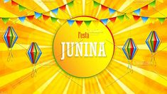 Illustration about Festa Junina poster with paper lanterns and paper garlands on yellow background, vector illustration. Illustration of invitation, brazilian, banner - 147111119 Paper Lanterns, Paper Garlands, Graphic Illustration, Vector Illustrations, Yellow Background, The Creator, Banner, Creative, Projects