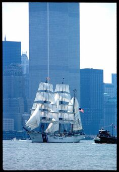 NY Tall Ships, Twin Towers 1976...part of the Bicentennial Celebration. We were there!