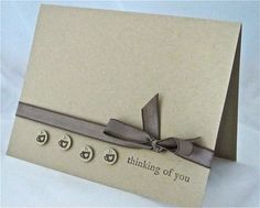 Thinking of you card stamped blank in by QuirkynBerkeleyCards, $5.00