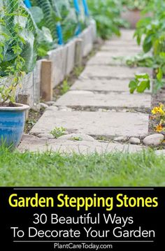 Front Garden Design Garden stepping stones come in many flavors - personalized garden stepping stones, shaped stepping stones, cheap, round, mosaic and decorative [LEARN MORE] Garden Steps, Garden Edging, Easy Garden, Lawn And Garden, Garden Paths, Garden Fun, Water Garden, Garden Tools, Permaculture Design