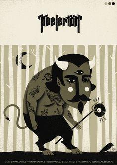 kvelertak | poster by Dawid Ryski, via Behance