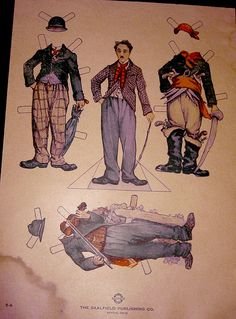 Charlie Chaplin Paper Doll by Pennelainer, via Flickr