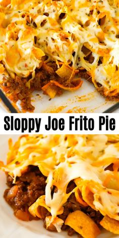 Sloppy Joe Frito Pie is a delicious casserole recipe with ground beef and onions tossed in homemade sloppy joe sauce and topped with Fritos corn chips and shredded cheese. recipes for dinner mexican Sloppy Joe Frito Pie - This is Not Diet Food Vegan Recipes Easy, Easy Dinner Recipes, Meat Recipes, Mexican Food Recipes, Cooking Recipes, Kitchen Recipes, Cheese Recipes, Breakfast Recipes, Chicken Recipes