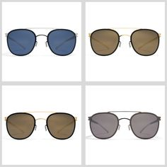 MYKITA Sunglasses – Keaton. Made of ultra-light stainless steel, the Keaton offers a classic semi-square shape paired with a perfectly placed brow bar.