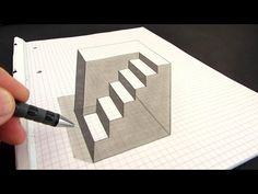 How to Draw an Anamorphic Cube: Amazing Optical Illusion - YouTube