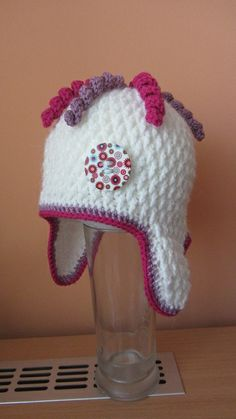 Ušanka Knit Crochet, Crochet Hats, Kids Hats, Free Pattern, Sewing, Knitting, Fabric, Beanies, Scrappy Quilts