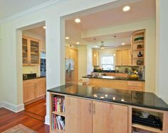 Can't remove a load bearing wall.. here's a solution #home #remodel #kitchen #bathroom #interiors  www.jimhicks.com