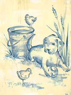 Toile Puppy by Oopsy daisy