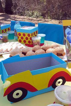Noddy Car Box 1st Birthday Parties, 3rd Birthday, Birthday Ideas, Toy Chest, Car Box, Birthdays, Party Ideas, Kids, Baby