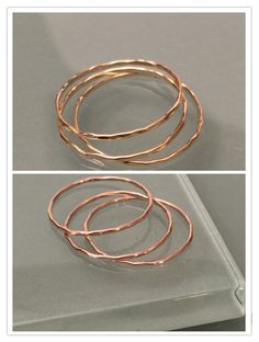 14k stack rings, 14k set of 3 gold stacking rings by EllynBlueJewelry on Etsy https://www.etsy.com/listing/233714851/14k-stack-rings-14k-set-of-3-gold