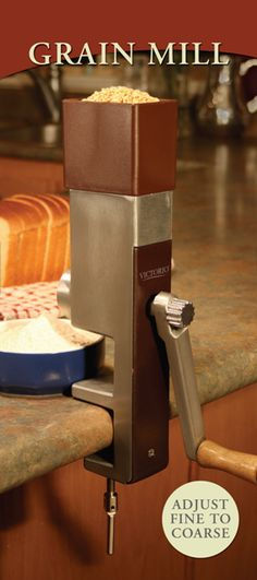 Grain Mill - Victorio Hand Crank $58.88 http://www.homesteadersupply.com/index.php?main_page=product_info=137_id=365