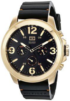 Tommy Hilfiger Men's 1791095 Analog Display Quartz Black Watch