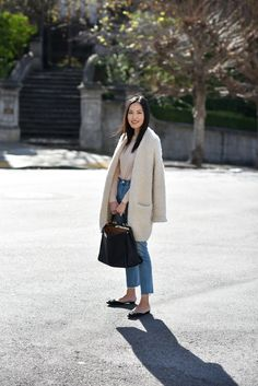 Because classic never fails. Finally getting back into the swing of things after a crazy nonstop week back home (always so much catching up to do!). Hope you're having a nice week so far! *** Fuzzy cardigan (still available here) Sweater (bought it here) Jeans (hereandhere  new in charcoalhere) Purse(bought ithere  another on saleherein black; …