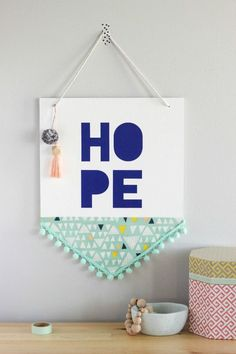 DIY Hope Wall Hanging Banner