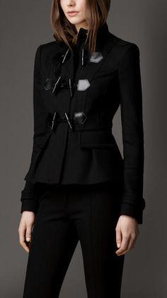 Virgin Wool Blend Fitted Duffle Jacket - Lyst