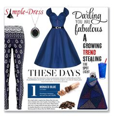 """""""Simpledress 18"""" by meldin ❤ liked on Polyvore featuring Garance Doré, Pearl & Black and simpledress"""