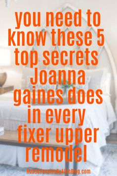 You need to know these 5 top secret Joanna Gaines does in every fixer upper remo… - farmhouse decor living room joanna gaines Bedroom Design On A Budget, Guest Bedroom Decor, Bedroom Designs, Bedroom Ideas, Joanna Gaines Design, Joanna Gaines Style, Dream Master Bedroom, Master Bedroom Design, Master Bedrooms