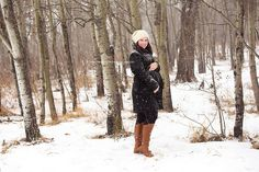 Edmonton Winter Maternity Photographer, winter maternity clothing, winter maternity, maternity pose, maternity clothing, edmonton, snow