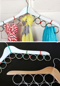 Make a Scarf Hanger In No Time   21 Life Hacks Every Girl Should Know   Easy DIY Projects for the Home