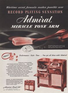 vintage home ads | Vintage 1947 Admiral Record Player print Ad radio home decor mid ...