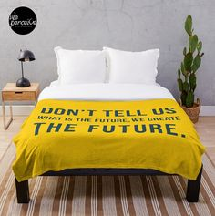 - 100% polyester fleece with soft, fluffy handfeel - Printed on front with solid white on reverse - Edge-to-edge sublimation print - Machine washable #weperceivestyle #designoftheday #yellowblanket #quoteblanket #throwblanket #throwblankets #fleeceblanket #minimalist #minimallove #quoteblanket #beddingdecor #beddingset #beddingsets  #cozyhome #comfycozy #bedroomdecor #spiritual