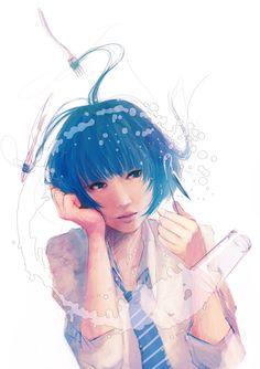 Beautiful Manga Illustrations by Wataboku
