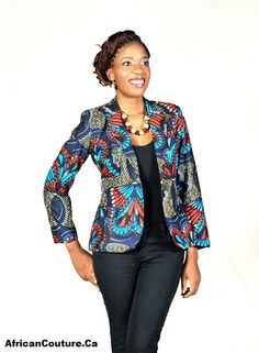 African Couture - Gorgeous African Print Women Blazer, Shop Now Up To 70% Off  (http://www.africancouture.ca/gorgeous-african-print-women-blazer/)