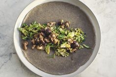 Fennel Buckwheat Crepes w/ Brussels Sprouts & Shiitake Mushrooms | Princess Tofu