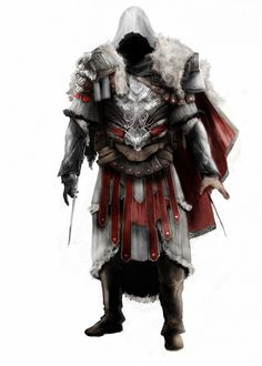Ezio - New armor by Assassins Creed Syndicate Evie, Assassins Creed Quotes, Assassins Creed Black Flag, Assassins Creed Odyssey, All Assassin's Creed Characters, Assasing Creed, Assassin's Creed Black, Rogue Assassin, Vikings