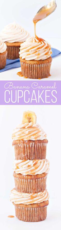 The best Banana Caramel Cupcakes