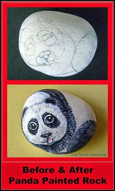 Painting Rock & Stone Animals, Nativity Sets & More: Wild Animals Painted on Rocks: Before & After