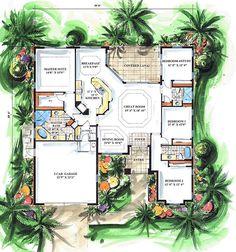 First Floor Plan of Mediterranean   House Plan 60503