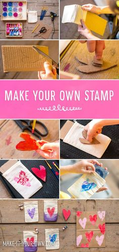 hello, Wonderful - DIY VALENTINE STAMPS AND FAVORS KIDS CAN MAKE
