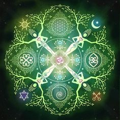 "Mandala - Flower of life ~ "" I am a powerful creator of my own life. & I create the life that my heart longs for."" <3"
