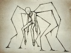 a very slender man by Eigth-Reaper. I like this. But I may have to check for murderers tonight...