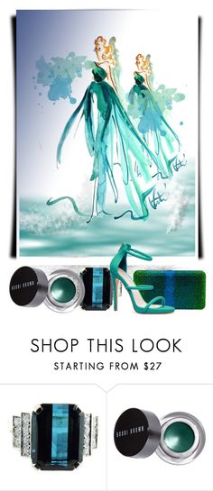 """Painted fashion #1."" by babysnail ❤ liked on Polyvore featuring Bobbi Brown Cosmetics, Judith Leiber, GREEN, BobbiBrown, judithleiber, painting and shoedazzle"