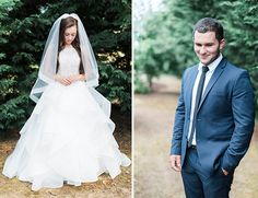 tiered ruffle wedding dress + veil from Hayley Paige