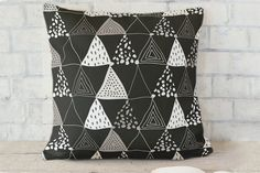 Oh So Triangular Pillow by Lehan Veenker at minted.com