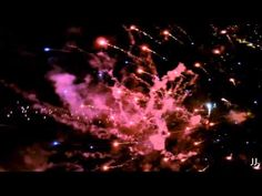 Yachats Fireworks as seen by a drone - YouTube
