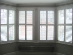 Bay Window Interior Wooden Window Shutters from Long Island Shutters