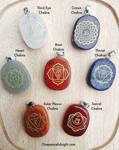 Chakra Healing Pendants - one for each day of the week! Chakras, Sacral Chakra, Chakra Healing, Chakra Symbols, Reiki Symbols, Reiki Training, Learn Reiki, Qi Gong, Healing Meditation