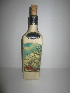 Vintage Fausto Confuri Genuine Leather Bound bottle from Florence Italy