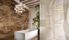 Alcove, Bathtub, Tiles, Flooring, Bathroom, Venus, Romania, Travertine, Standing Bath