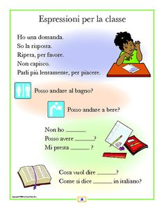 Italian Phrases Poster - Italian, French and Spanish Language Teaching Posters | Second Story Press
