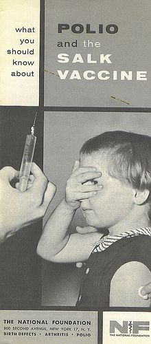 Polio and the Salk Vaccine brochure.  Please vaccinate your kids!
