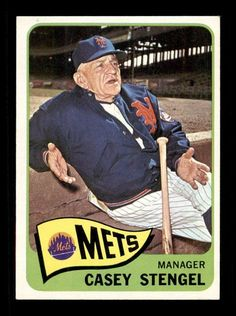 1965 Topps Casey Stengel Baseball Card for sale online Fsu Baseball, Pirates Baseball, Baseball Cards For Sale, Baseball Photos, Mlb Players, Baseball Players, Casey Stengel, New York Mets, Ny Mets