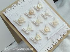 Love the simple beauty of this card (Paper meets glue).